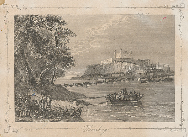 Stredoeurópsky grafik z 2. polovice 19. storočia, William Henry Bartlett – Bratislava z juhu