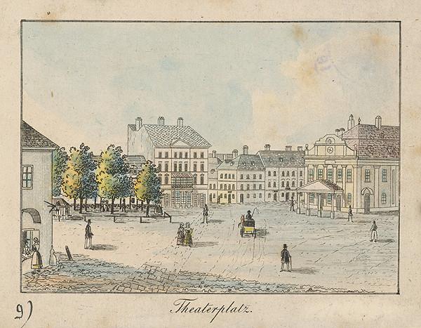 Johann Vincenz Reim - Divadelné námestie v Bratislave