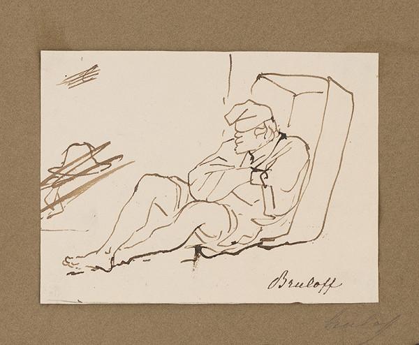 Carl Bruloff - Odpočívajúci muž