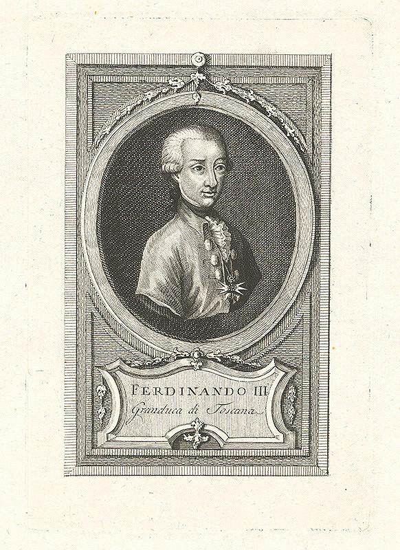 Stredoeurópsky grafik z 19. storočia - Portrét Ferdinanda III. Toskánskeho
