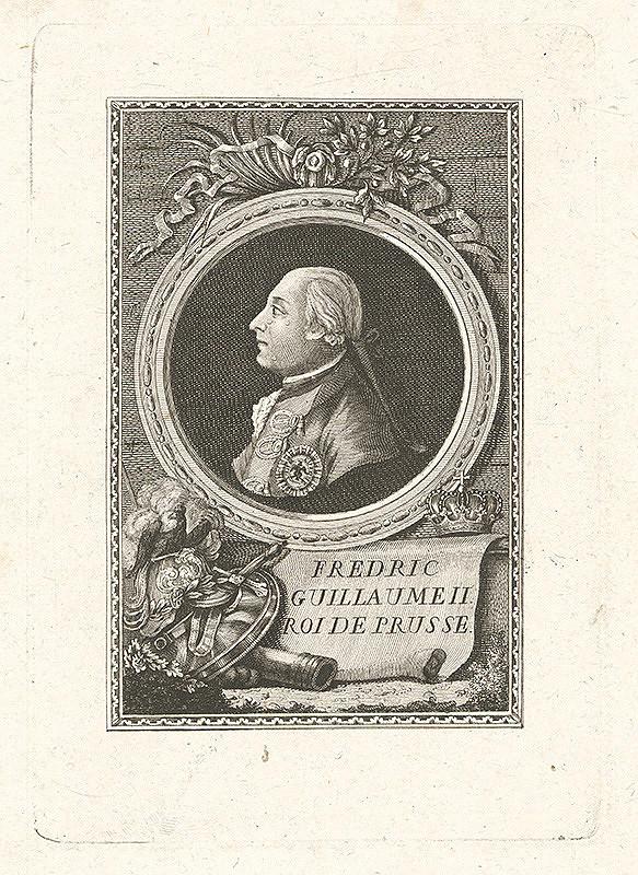 Stredoeurópky grafik z konca 18. storočia – Friedrich Wilhelm II. Pruský