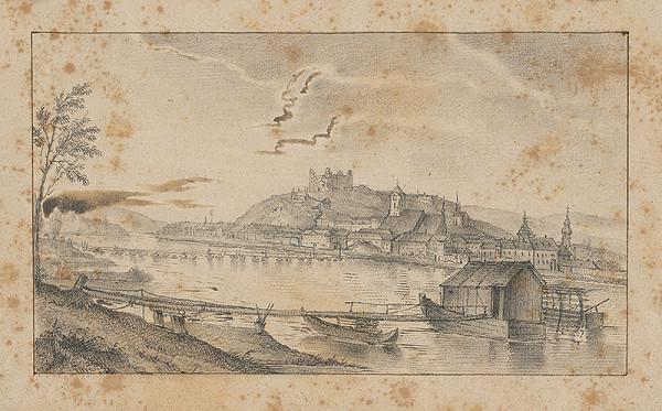 Stredoeurópsky grafik z 1. polovice 19. storočia - Bratislava z juhu
