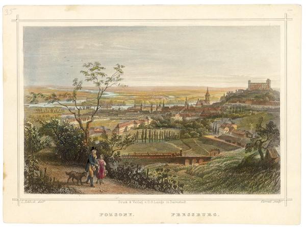 Ludwig Rohbock, J. Carl Varrall – Bratislava v 19. storočí-pohľad zo severu