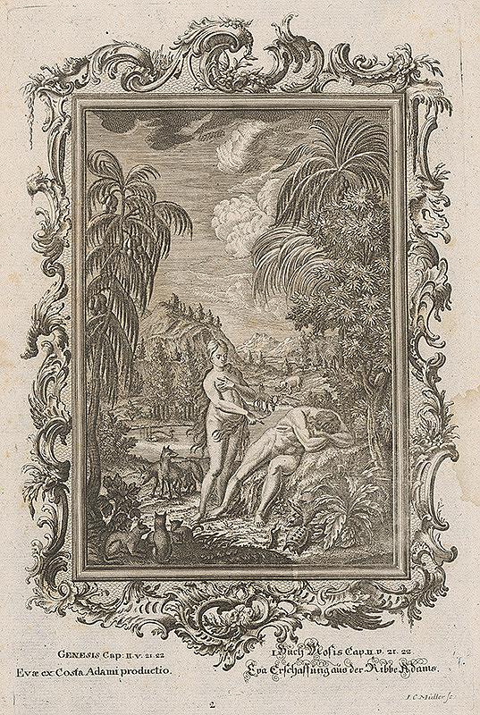 Johann Conrad Müller – Eva stvorená z Adamovho rebra