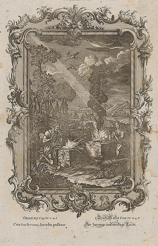 Stredoeurópsky grafik z 18. storočia – Kain hnevom kypiaci...