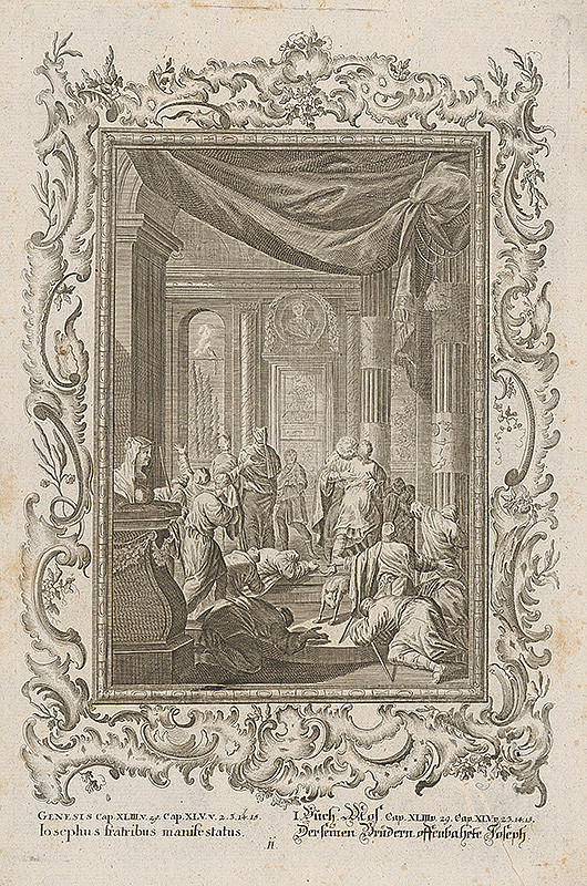 Stredoeurópsky grafik z 18. storočia - Bratia sa kajajú pred Jozefom