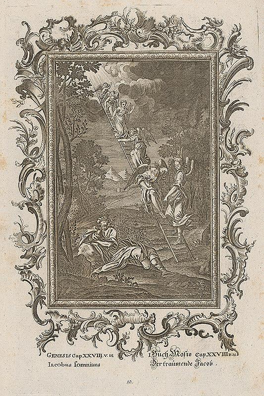 Stredoeurópsky grafik z 18. storočia – Snívajúci Jakub