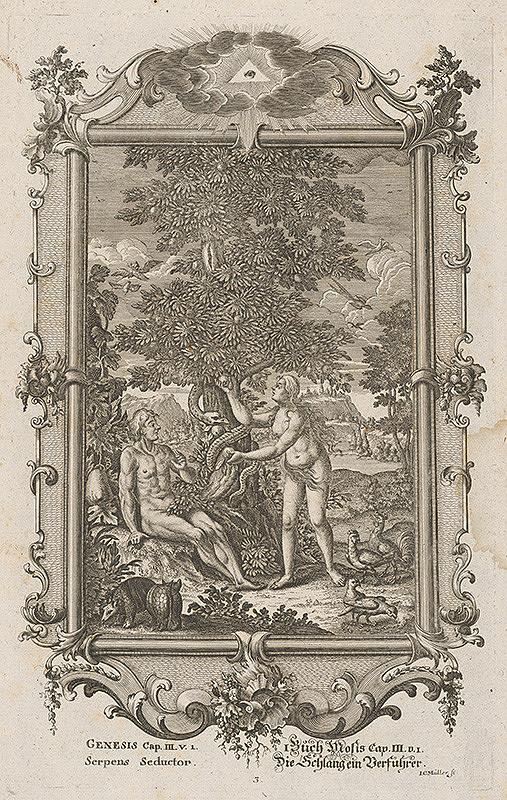 Johann Conrad Müller - Pokušenie Adama a Evy