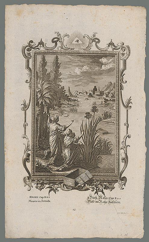 Johann Conrad Müller – Mojžiš pláva po Níle