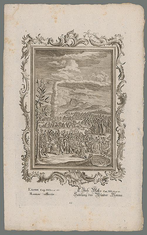 Stredoeurópsky grafik z 18. storočia - Zbieranie manny
