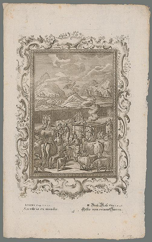 Stredoeurópsky grafik z 18. storočia – Obetovanie dobytka