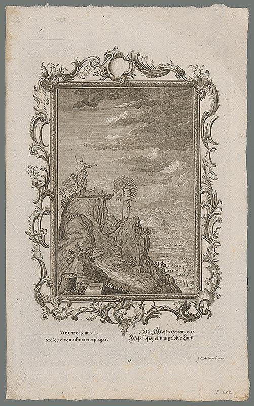 Johann Conrad Müller - Mojžiš obzerajúci sa po kraji