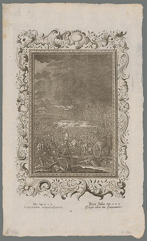 Stredoeurópsky grafik z 18. storočia – Hospodin metá kamene