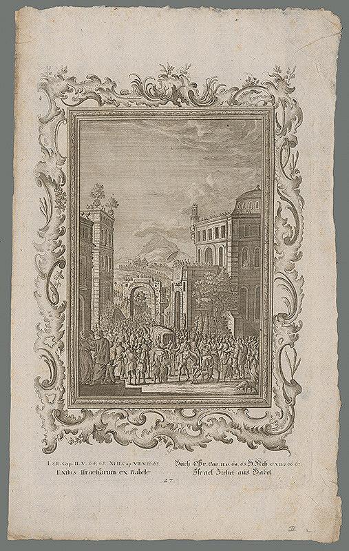 Stredoeurópsky grafik z 18. storočia - Prepustenie Židov z Babylónu
