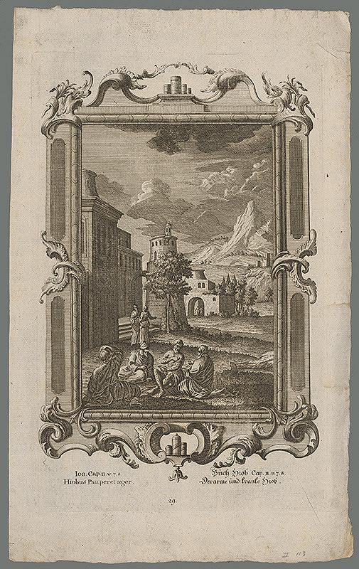 Stredoeurópsky grafik z 18. storočia – Jób postihnutý chorobou