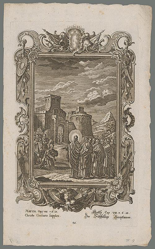 Stredoeurópsky grafik z 18. storočia - Stotník prosí Krista