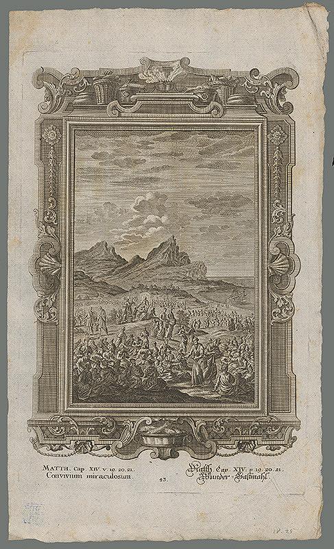 Stredoeurópsky grafik z 18. storočia - Zázračná hostina