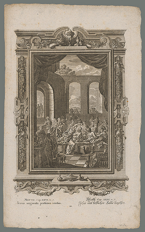 Stredoeurópsky grafik z 18. storočia - Ježiš poliaty vzácnou masťou