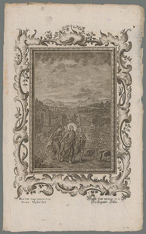 Stredoeurópsky grafik z 18. storočia - Kristus s Petrom a synmi