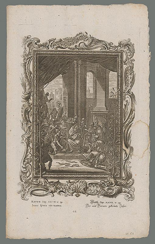 Stredoeurópsky grafik z 18. storočia – Korunovanie Krista tŕnim