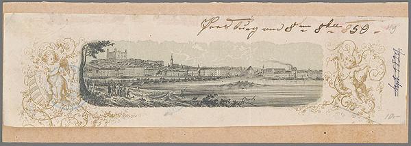 Stredoeurópsky grafik z polovice 19. storočia - Bratislava