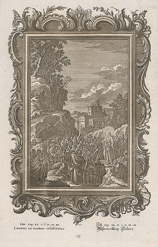 Stredoeurópsky grafik z 18. storočia – Vzkriesenie Lazara
