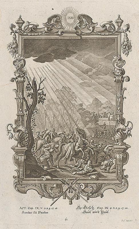 Johann Conrad Müller - Premenenie Šavla na Pavla