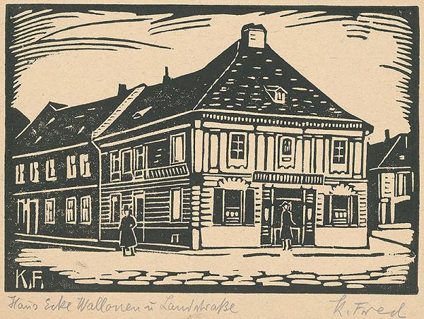 Karol Frech - Dom na rohu Valonskej a Radlinského ulici v Bratislave