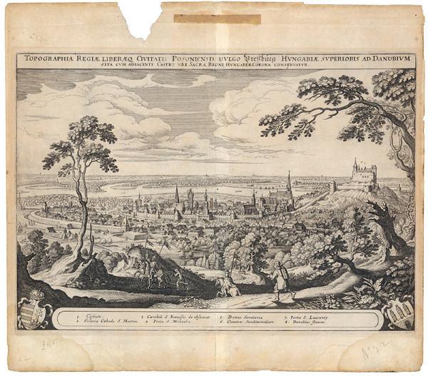 Matthäus Merian – Pohľad na Bratislavu zo severu