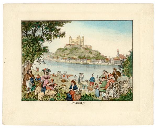 Stredoeurópsky grafik z 1. polovice 19. storočia – Bratislava z juhu