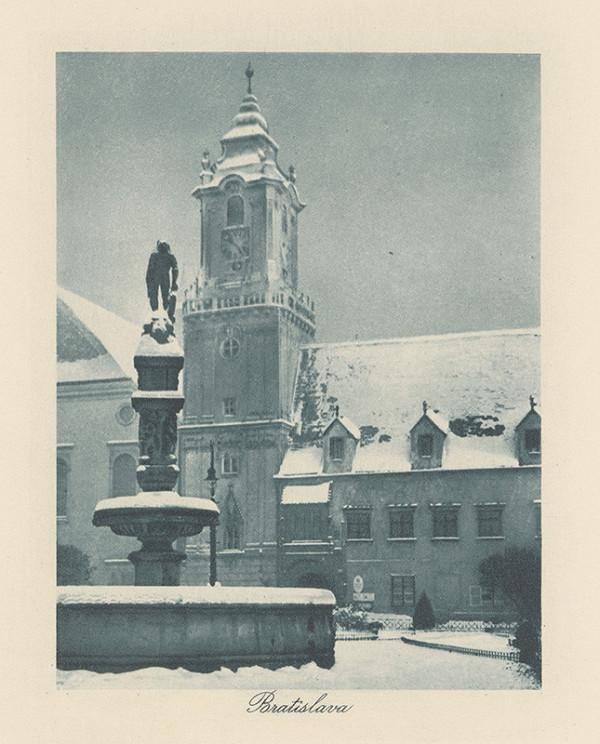 Stredoeurópsky grafik z 1. polovice 20. storočia - Námestie v Bratislave