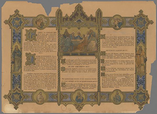 Stredoeurópsky grafik z 2. polovice 19. storočia - Posledná večera