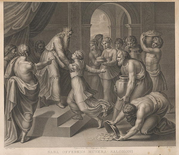 Raffael, Pietro Vedovato – Kráľovná zo Sáby