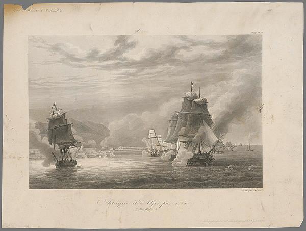 William Skelton – Útok na Alžír od mora