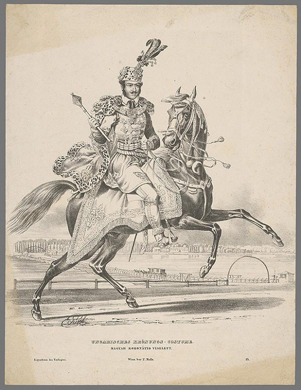 Eduard Gurk – Jazdecký portrét neznámeho šľachtica v korunovačnom kostýme