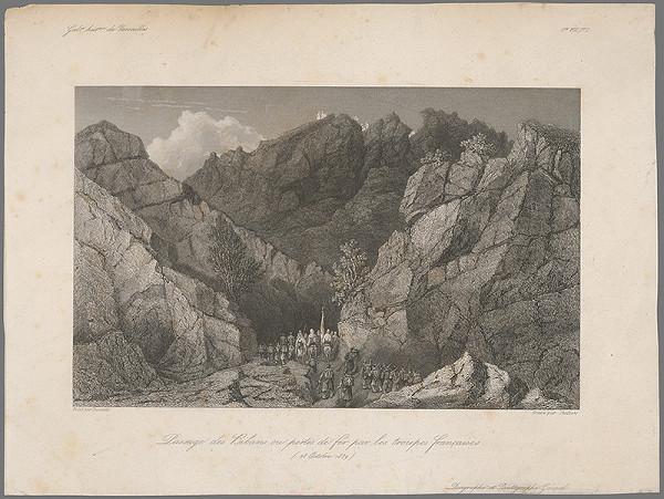 William Skelton, Adrien Dauzats – Prechod francúzskeho vojska cez Bibans II.