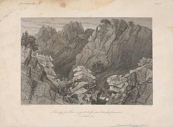 William Skelton, Adrien Dauzats – Prechod francúzskeho vojska cez Bibans IV.