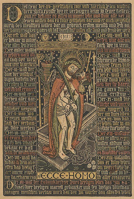 Stredoeurópsky grafik z 1. polovice 20. storočia – Ecce homo