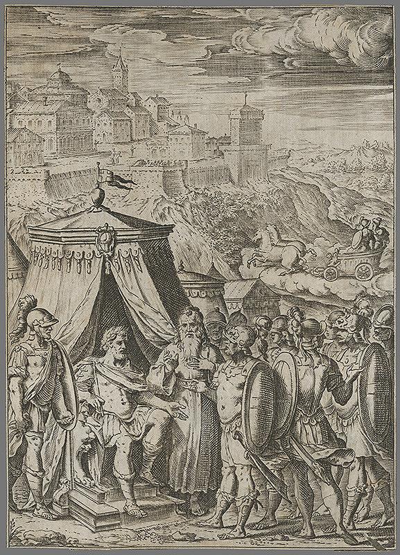 Agostino Carracci, Giacomo Franco, Bernardo Castello – Vojenská antická scéna II.