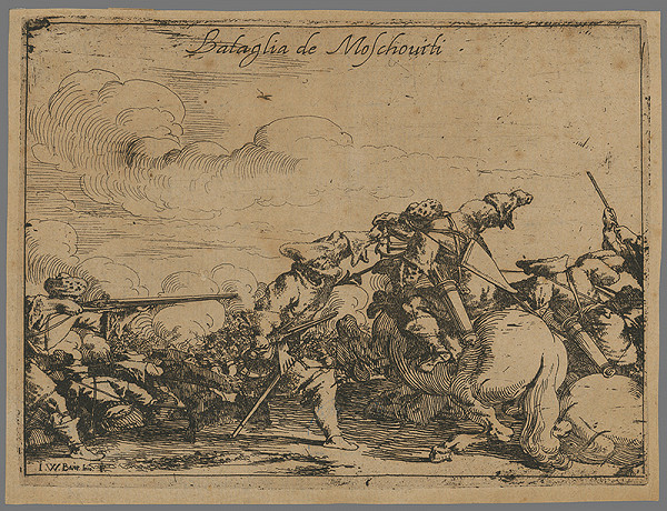 Johann Wilhelm Baur – Bojová scéna
