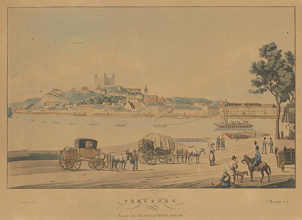 Carl Bschor – Pohľad na Bratislavu z juhu