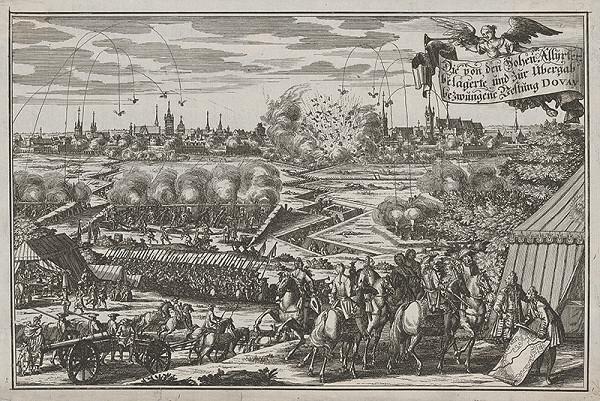 Stredoeurópsky grafik zo 17. storočia - Útok a dobitie hradu Dovay