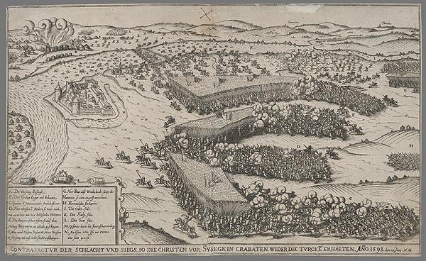 Stredoeurópsky grafik z konca 16. a začiatku 17. storočia - Útok a dobitie pevnosti Sysephu