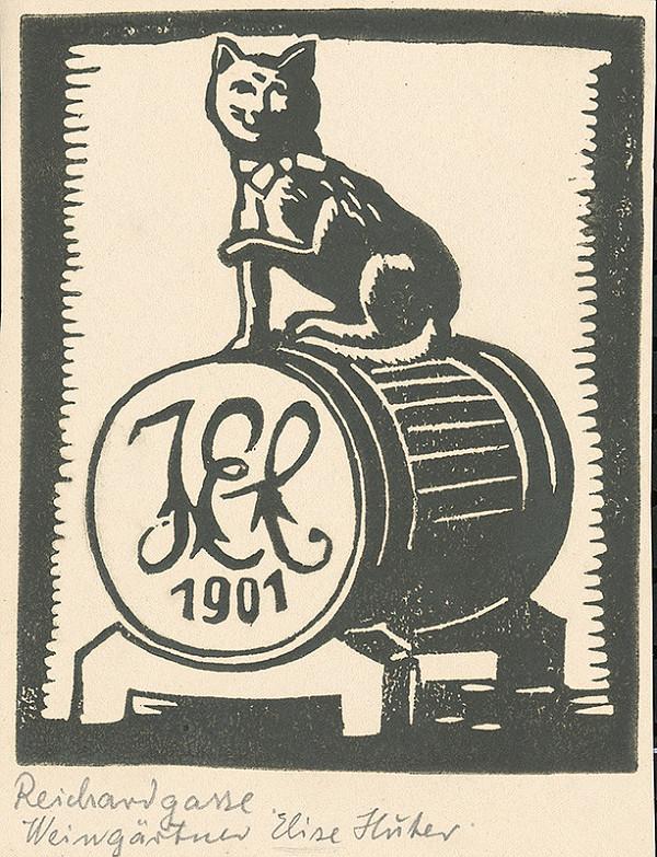 Karol Frech - Znak na vinárni Elišky Hütterovej, Richardská ulica v Bratislave