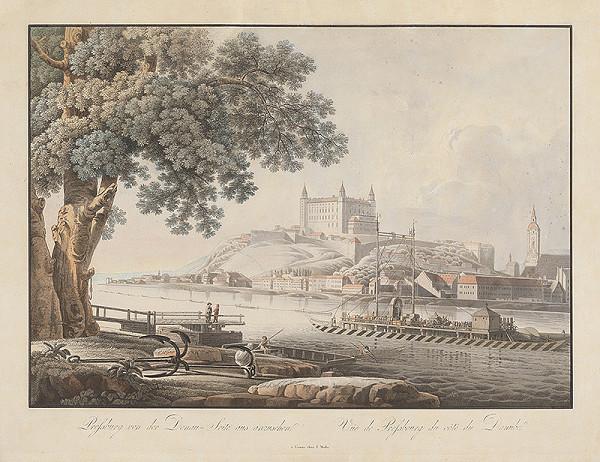Stredoeurópsky maliar z konca 18. storočia - Pohľad na Bratislavu z juhu