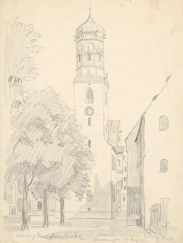 Karol Frech - Pohľad na vežu v Memmingene II.