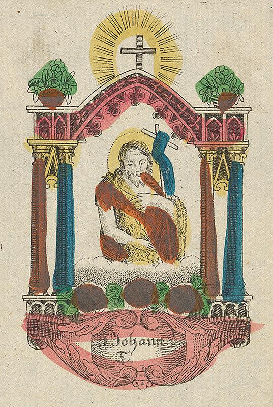 Stredoeurópsky grafik z 19. storočia - Svätý Ján Krstiteľ