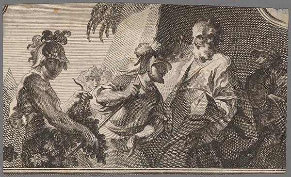 Stredoeurópsky grafik z 18. storočia – Žoldnieri pred Mojžišom