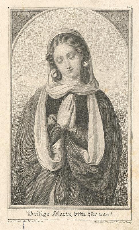 David Weiss, Wilhelm August Rieder - Madona