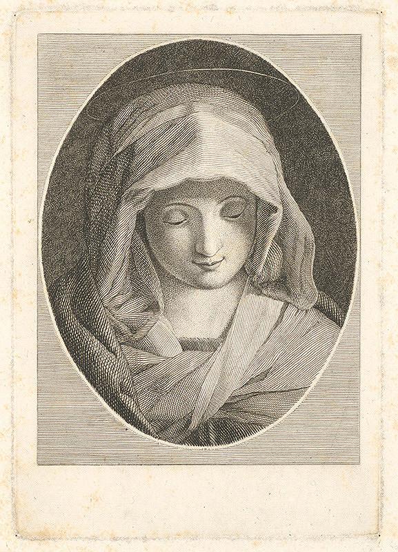 Stredoeurópsky grafik z 18. storočia – Panna Mária